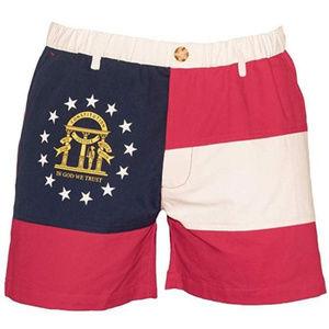 """M-PEX 5.5"""" Inseam Georgia State Flag Men's Shorts"""